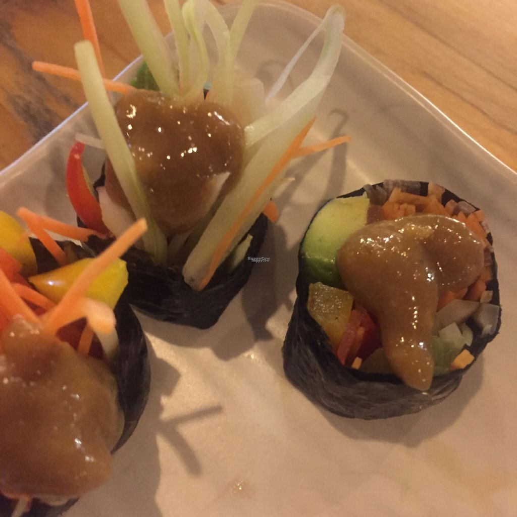 """Photo of Rasayana Raw Food Cafe  by <a href=""""/members/profile/MattiLuoma-Pantti"""">MattiLuoma-Pantti</a> <br/>sushi <br/> December 11, 2016  - <a href='/contact/abuse/image/3847/199284'>Report</a>"""