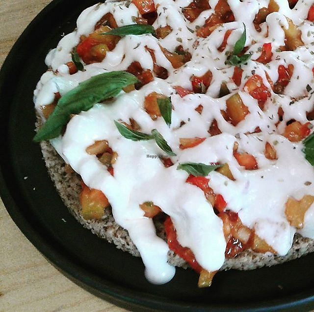 """Photo of Rasayana Raw Food Cafe  by <a href=""""/members/profile/RunEatWorld"""">RunEatWorld</a> <br/>Raw pizza <br/> June 13, 2017  - <a href='/contact/abuse/image/3847/268622'>Report</a>"""