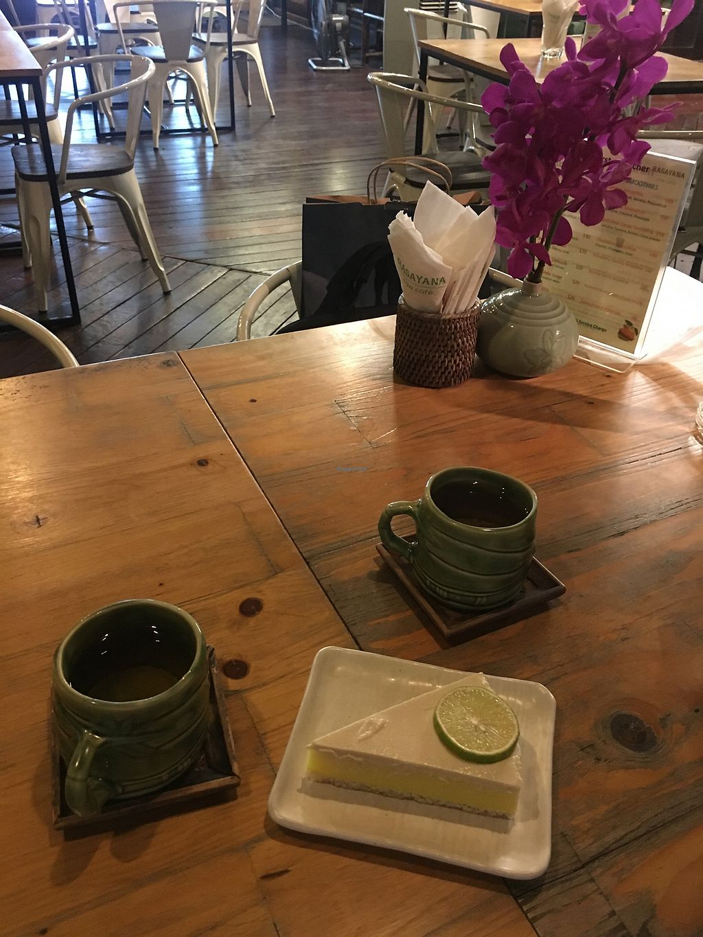 """Photo of Rasayana Raw Food Cafe  by <a href=""""/members/profile/LauraZr"""">LauraZr</a> <br/>Lemon tart  <br/> October 5, 2017  - <a href='/contact/abuse/image/3847/312026'>Report</a>"""