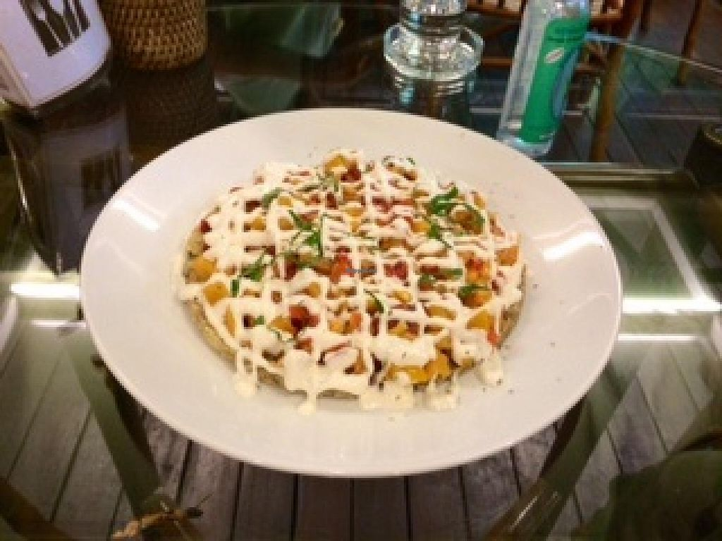 """Photo of Rasayana Raw Food Cafe  by <a href=""""/members/profile/Plantpower"""">Plantpower</a> <br/>Raw Hawaiian pizza  <br/> January 13, 2015  - <a href='/contact/abuse/image/3847/90295'>Report</a>"""