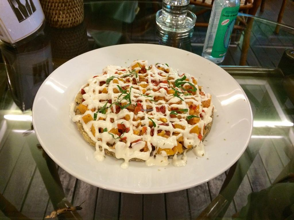 """Photo of Rasayana Raw Food Cafe  by <a href=""""/members/profile/Plantpower"""">Plantpower</a> <br/>raw pizza <br/> March 23, 2015  - <a href='/contact/abuse/image/3847/96617'>Report</a>"""