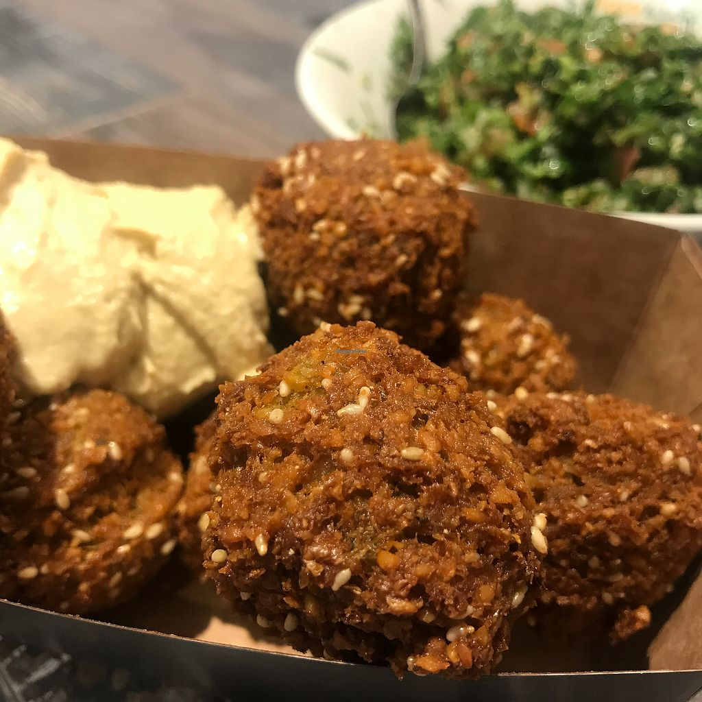 """Photo of Boussi Falafel - Hamburg  by <a href=""""/members/profile/The%20London%20Vegan"""">The London Vegan</a> <br/>Falafel box with extra portion of taboule  <br/> February 1, 2018  - <a href='/contact/abuse/image/38494/353707'>Report</a>"""