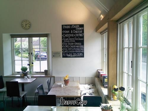 "Photo of Mells Community Cafe  by <a href=""/members/profile/HungryBiker"">HungryBiker</a> <br/>Indoor dining area, with sample menu on the wall <br/> May 18, 2013  - <a href='/contact/abuse/image/38510/48329'>Report</a>"