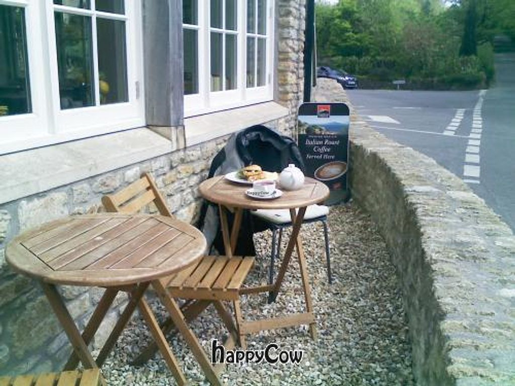 "Photo of Mells Community Cafe  by <a href=""/members/profile/HungryBiker"">HungryBiker</a> <br/>Outdoor dining by the cafe <br/> May 18, 2013  - <a href='/contact/abuse/image/38510/48330'>Report</a>"