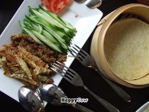 """Photo of Leaf Vegetarian  by <a href=""""/members/profile/v_mdj"""">v_mdj</a> <br/>Crepes with vegan duck and lamb <br/> July 6, 2013  - <a href='/contact/abuse/image/38512/50847'>Report</a>"""