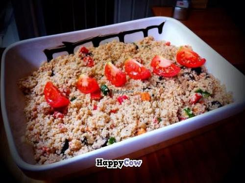 """Photo of Santoni Cafe  by <a href=""""/members/profile/Harp"""">Harp</a> <br/>Vegan couscous <br/> October 17, 2013  - <a href='/contact/abuse/image/38547/56823'>Report</a>"""