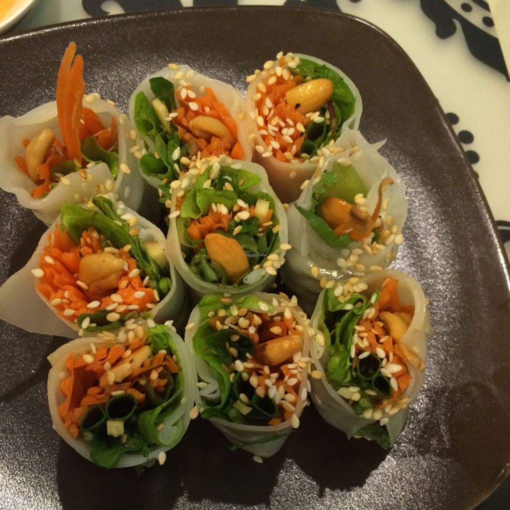 """Photo of Morning Glory  by <a href=""""/members/profile/amerp"""">amerp</a> <br/>guitiow loui suan tofu, mix veg. & Thai herbs in rice wrapping <br/> June 9, 2016  - <a href='/contact/abuse/image/38567/153076'>Report</a>"""