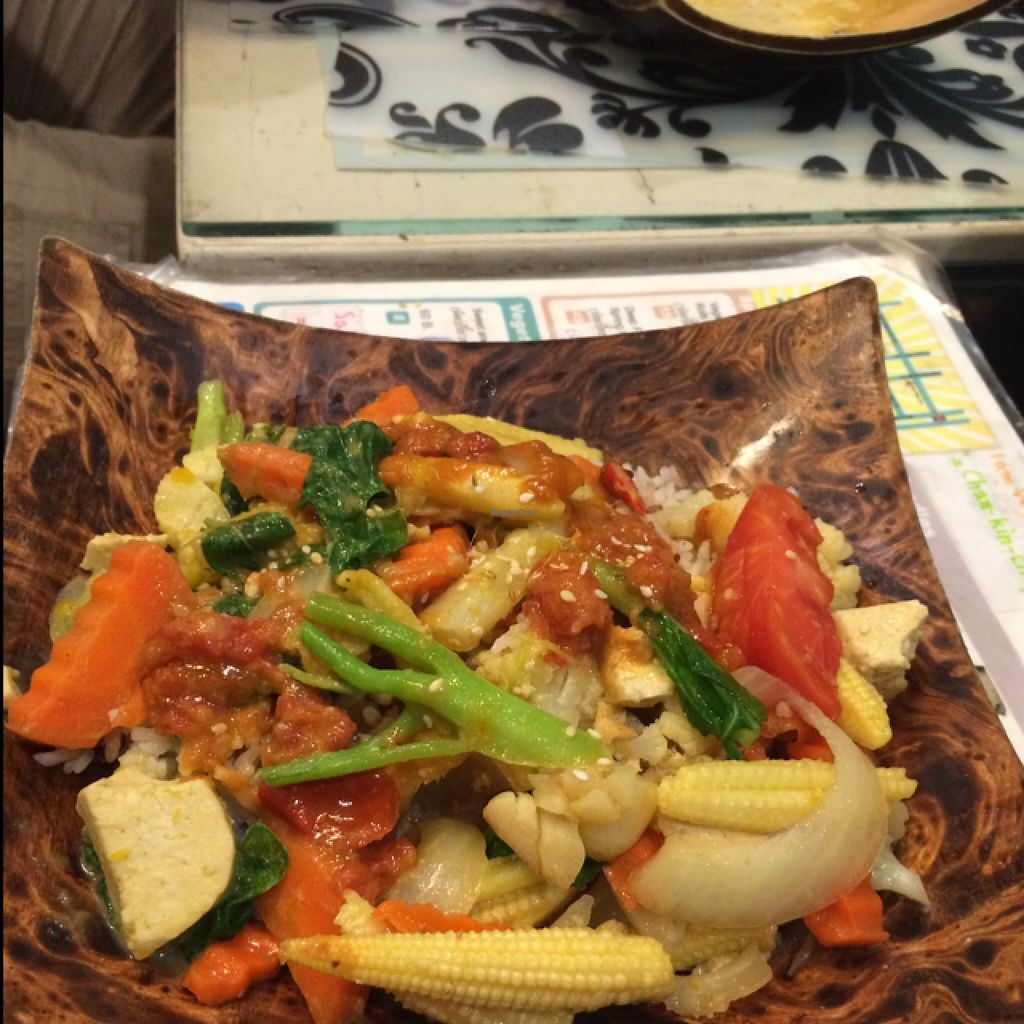 """Photo of Morning Glory  by <a href=""""/members/profile/amerp"""">amerp</a> <br/>curry fried tofu and vegetables with rice  <br/> June 9, 2016  - <a href='/contact/abuse/image/38567/153081'>Report</a>"""