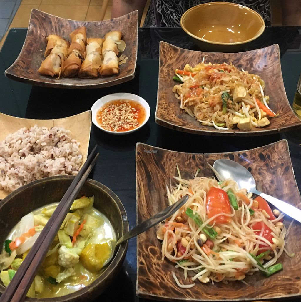 """Photo of Morning Glory  by <a href=""""/members/profile/DustineHughes"""">DustineHughes</a> <br/>Spring rolls - Pad Thai - Som Tam - Green Curry AMAZING! <br/> March 25, 2017  - <a href='/contact/abuse/image/38567/240617'>Report</a>"""