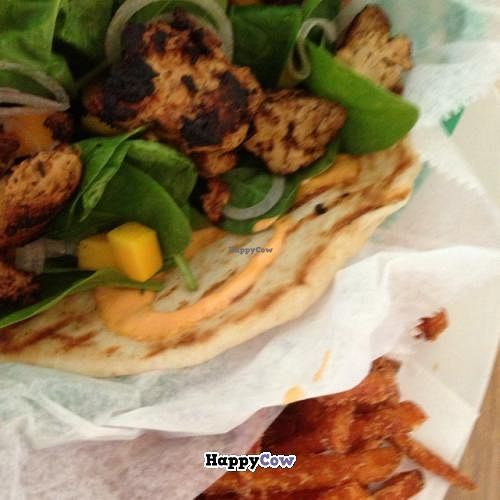"""Photo of The Cutting Edge Cafe  by <a href=""""/members/profile/Hungry%20Couple"""">Hungry Couple</a> <br/>blackened vegan chik'n  <br/> September 17, 2013  - <a href='/contact/abuse/image/38610/55085'>Report</a>"""