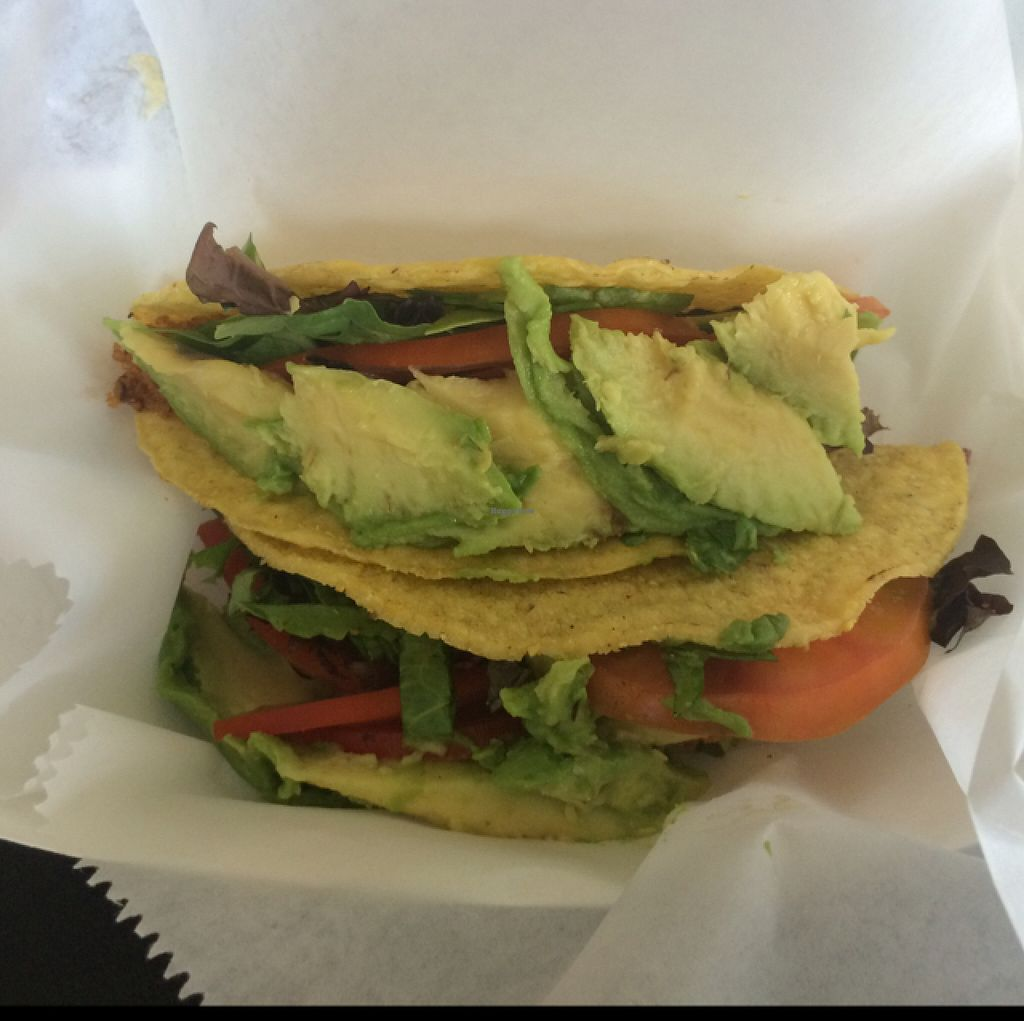 "Photo of Vegan Flava Cafe  by <a href=""/members/profile/trisangelina"">trisangelina</a> <br/>Two Tasty Tacos <br/> July 23, 2016  - <a href='/contact/abuse/image/38620/161788'>Report</a>"