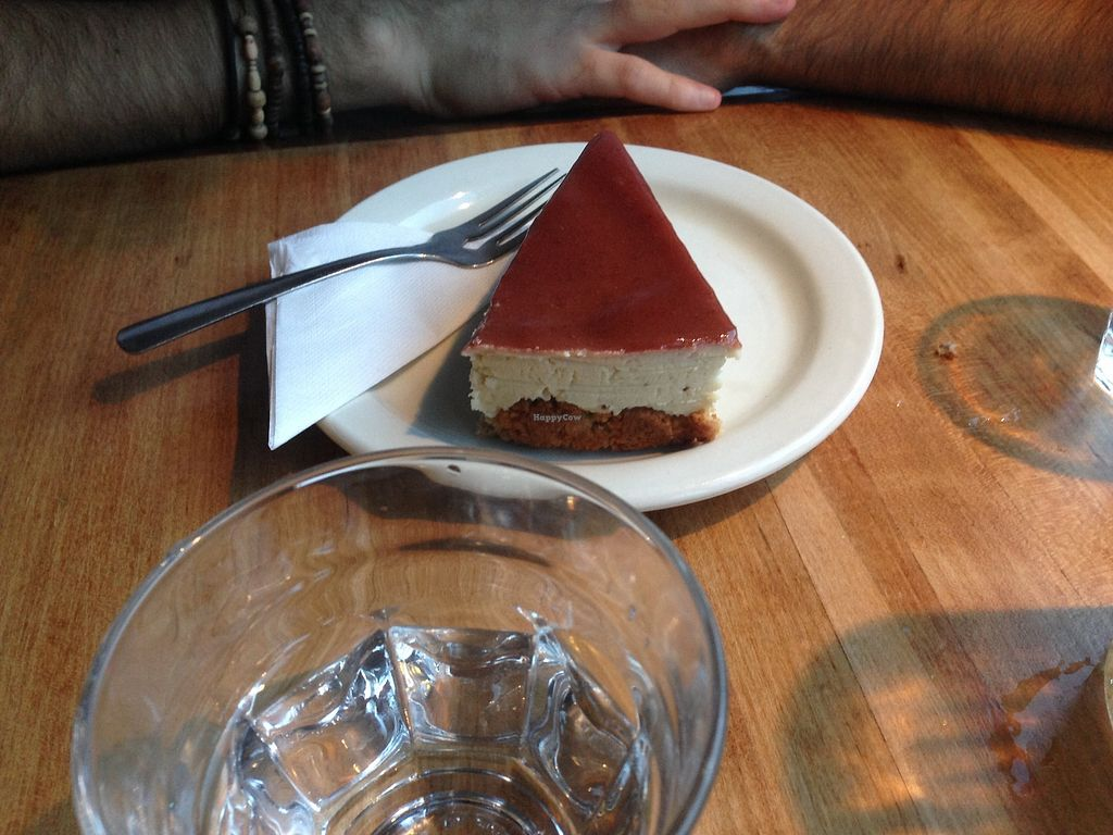 """Photo of Invitation V Vegan Bistro  by <a href=""""/members/profile/doitforthemermaids"""">doitforthemermaids</a> <br/>Cheesecake décadent <br/> July 22, 2017  - <a href='/contact/abuse/image/38634/283103'>Report</a>"""