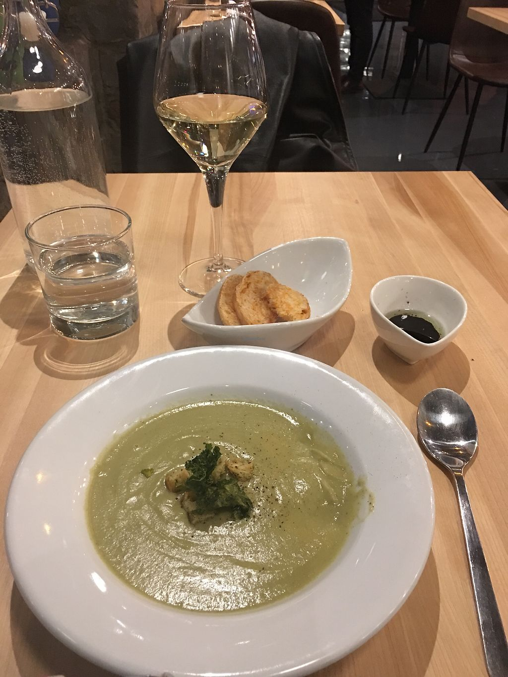 """Photo of Invitation V Vegan Bistro  by <a href=""""/members/profile/TEE427"""">TEE427</a> <br/>InvitationV- Broccoli soup was yum <br/> November 29, 2017  - <a href='/contact/abuse/image/38634/330474'>Report</a>"""