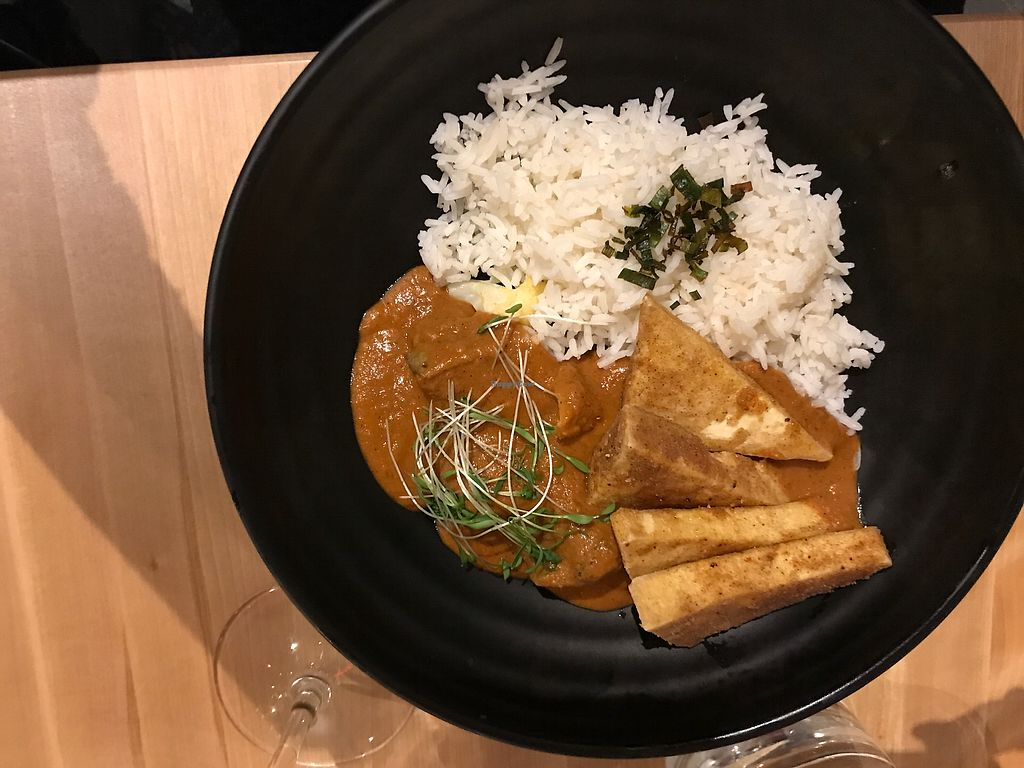 """Photo of Invitation V Vegan Bistro  by <a href=""""/members/profile/gary%40bernfeld.ca"""">gary@bernfeld.ca</a> <br/>'Butter Chicken' <br/> January 3, 2018  - <a href='/contact/abuse/image/38634/342647'>Report</a>"""