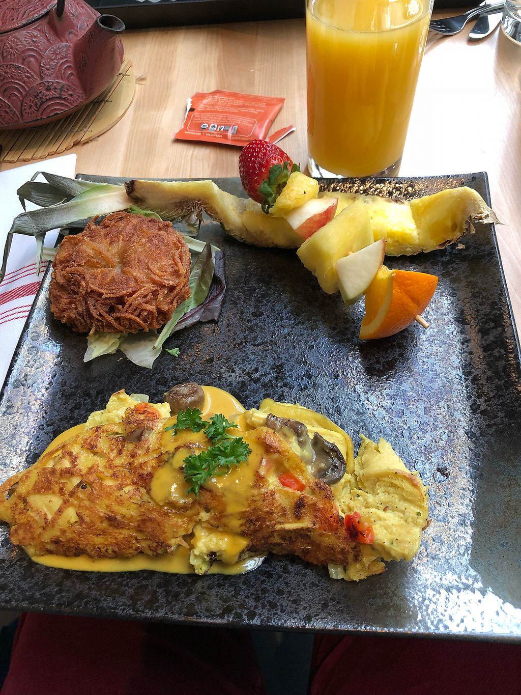 """Photo of Invitation V Vegan Bistro  by <a href=""""/members/profile/KaitlynnGill"""">KaitlynnGill</a> <br/>Omelette  <br/> February 27, 2018  - <a href='/contact/abuse/image/38634/364651'>Report</a>"""