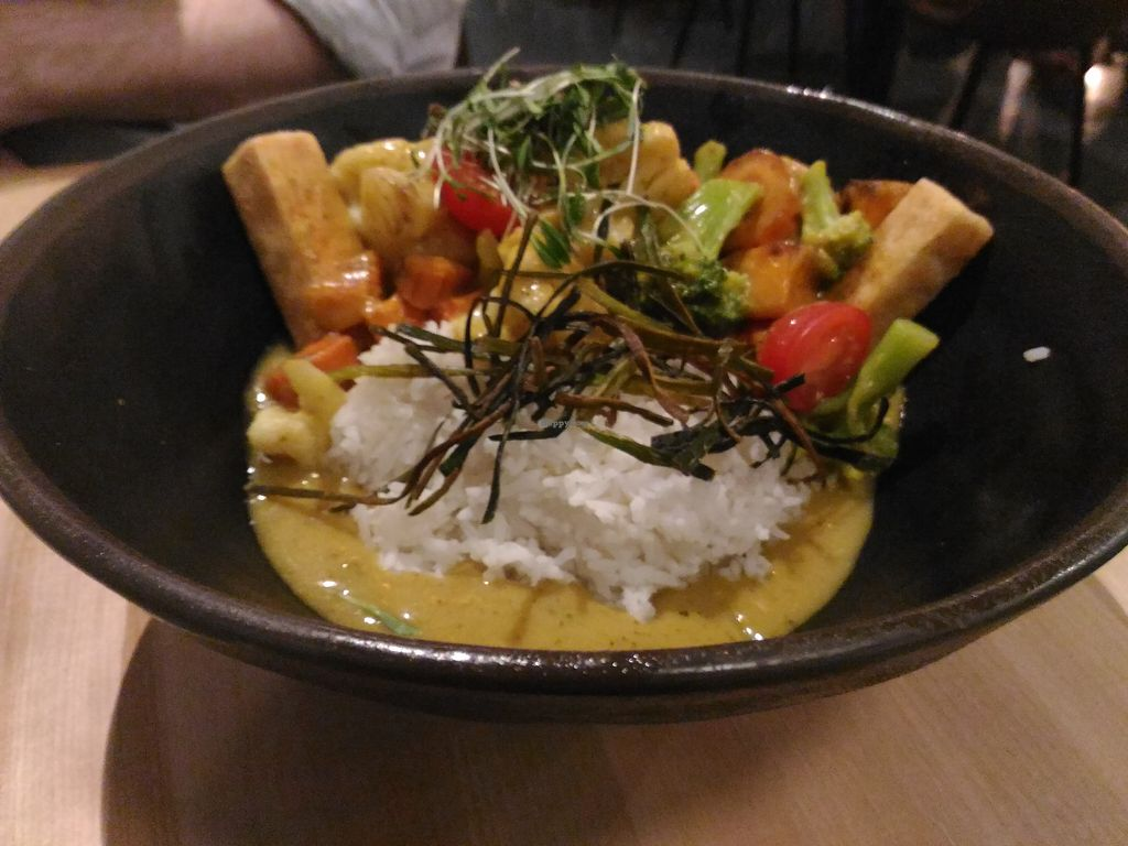 """Photo of Invitation V Vegan Bistro  by <a href=""""/members/profile/Travellerslife"""">Travellerslife</a> <br/>Curry Stew <br/> May 21, 2018  - <a href='/contact/abuse/image/38634/402734'>Report</a>"""