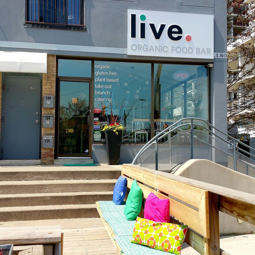 """Photo of Live Organic Food Bar - Liberty Village  by <a href=""""/members/profile/tlt"""">tlt</a> <br/>We're at the entrance to Liberty Village -- 134 Atlantic Ave at King Street <br/> October 8, 2017  - <a href='/contact/abuse/image/38654/313148'>Report</a>"""