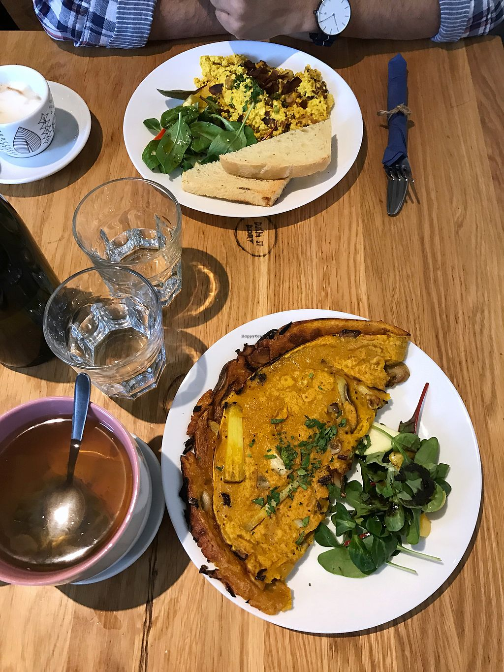 "Photo of Moment  by <a href=""/members/profile/kkylaye"">kkylaye</a> <br/>vegan scramble and omelette for brunch <br/> February 7, 2018  - <a href='/contact/abuse/image/38687/355920'>Report</a>"