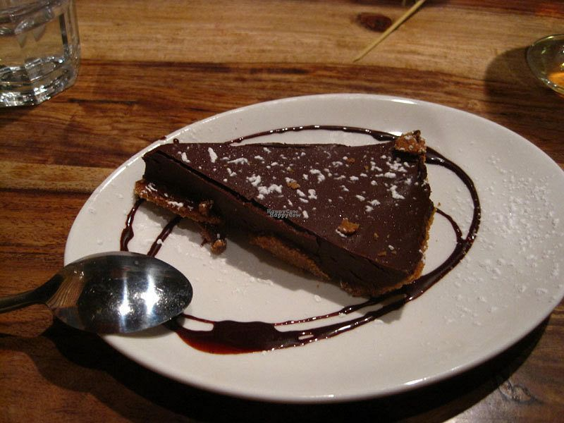 """Photo of Lola Rosa - Parc  by <a href=""""/members/profile/Babette"""">Babette</a> <br/>Vegan pie (chocolate, caramel and cognac). It was dense, it was rich, it was perfect <br/> October 11, 2016  - <a href='/contact/abuse/image/38742/181279'>Report</a>"""
