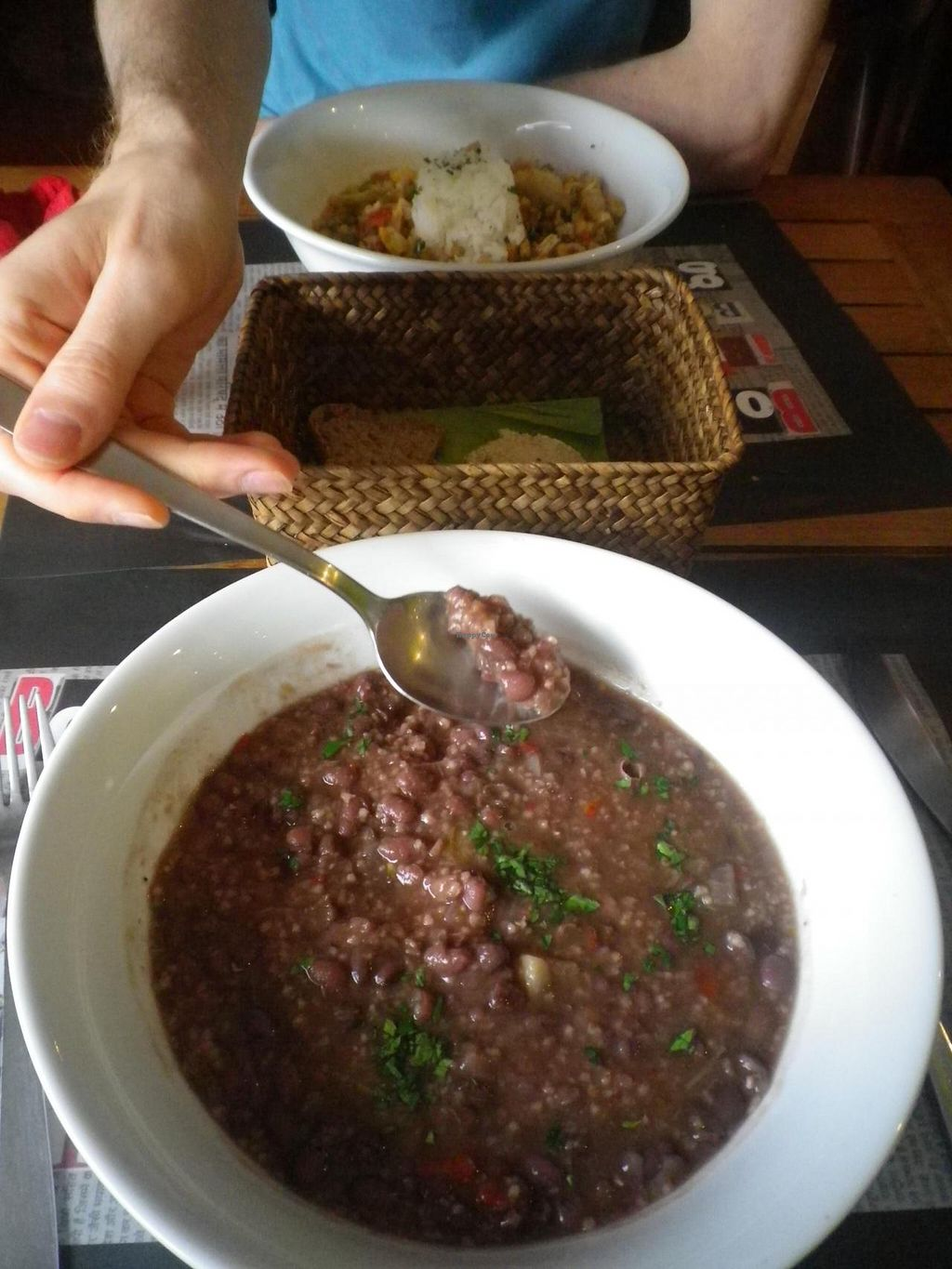 """Photo of Sukha Espai Vegetarian  by <a href=""""/members/profile/Becky%20Louise"""">Becky Louise</a> <br/>Falvoursome bean + veg vegan dish with herbs. The flavours just POP <br/> May 18, 2014  - <a href='/contact/abuse/image/38753/70237'>Report</a>"""