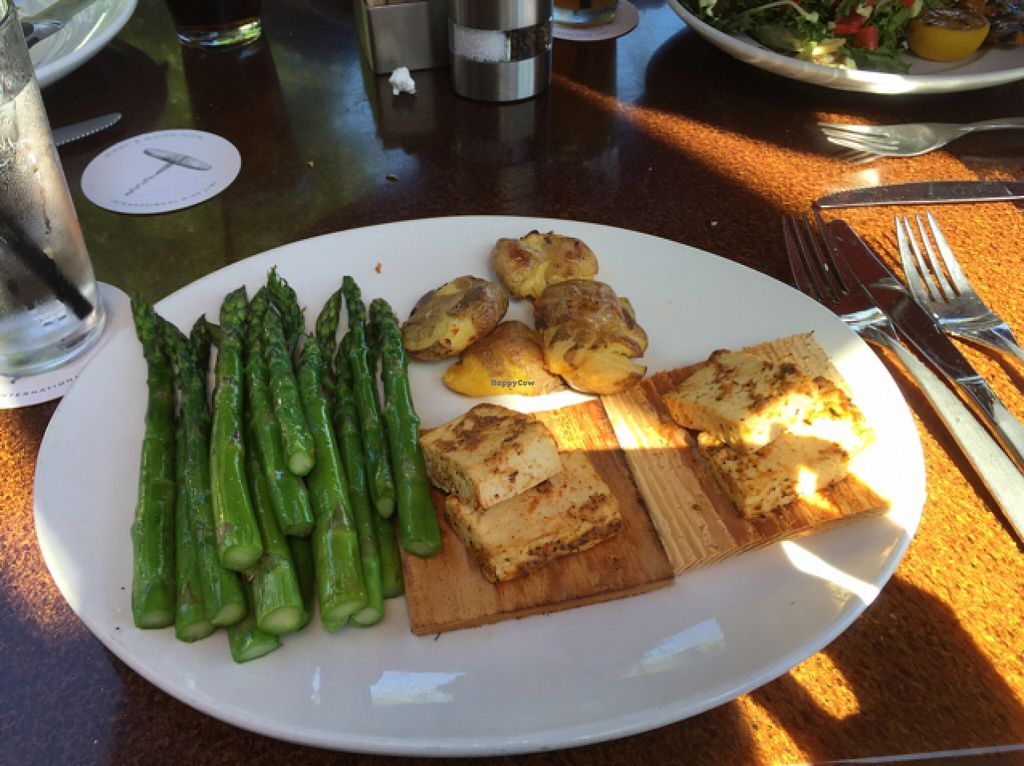 """Photo of Seasons 52  by <a href=""""/members/profile/olivianmitchell"""">olivianmitchell</a> <br/>Cedar Plank Roasted Tofu with asparagus and potatoes <br/> March 26, 2016  - <a href='/contact/abuse/image/38803/141424'>Report</a>"""