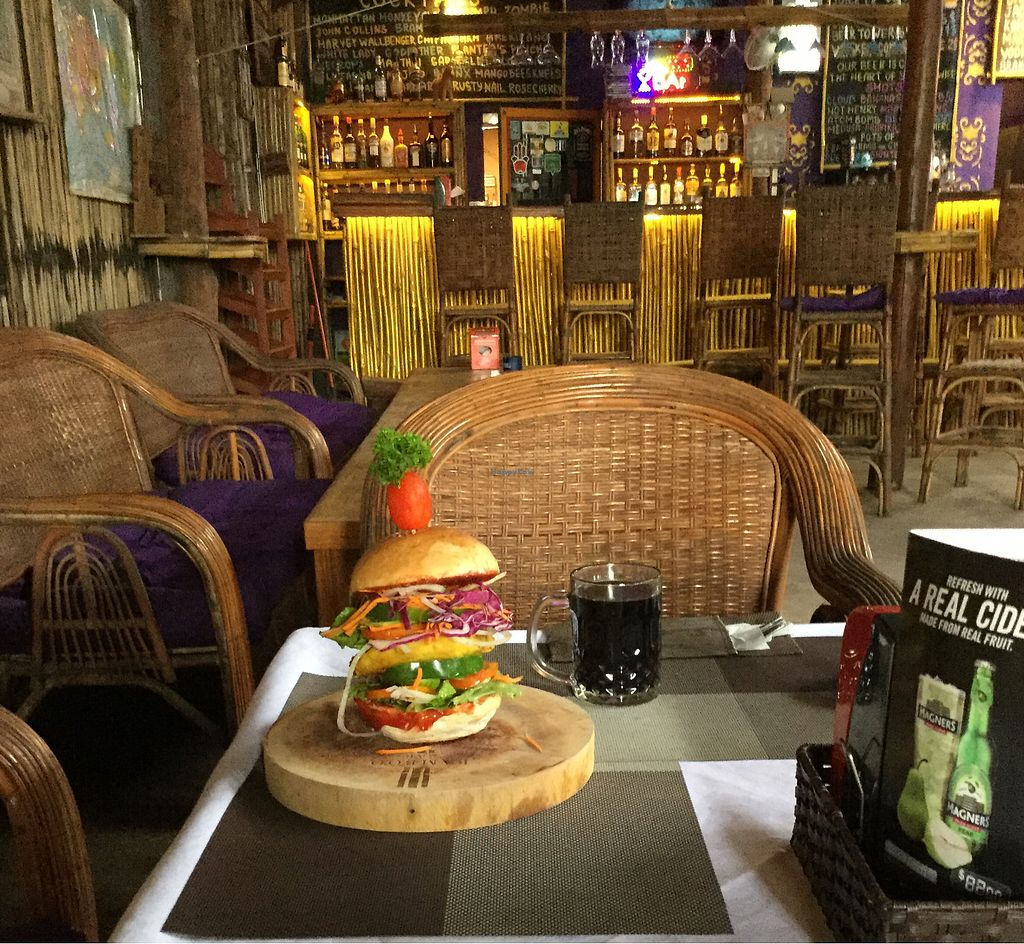 "Photo of CLOSED: Bamboo Bar & Vegetarian Restaurant  by <a href=""/members/profile/Mike%20Munsie"">Mike Munsie</a> <br/>vegan lentil burger <br/> September 15, 2017  - <a href='/contact/abuse/image/38858/304657'>Report</a>"
