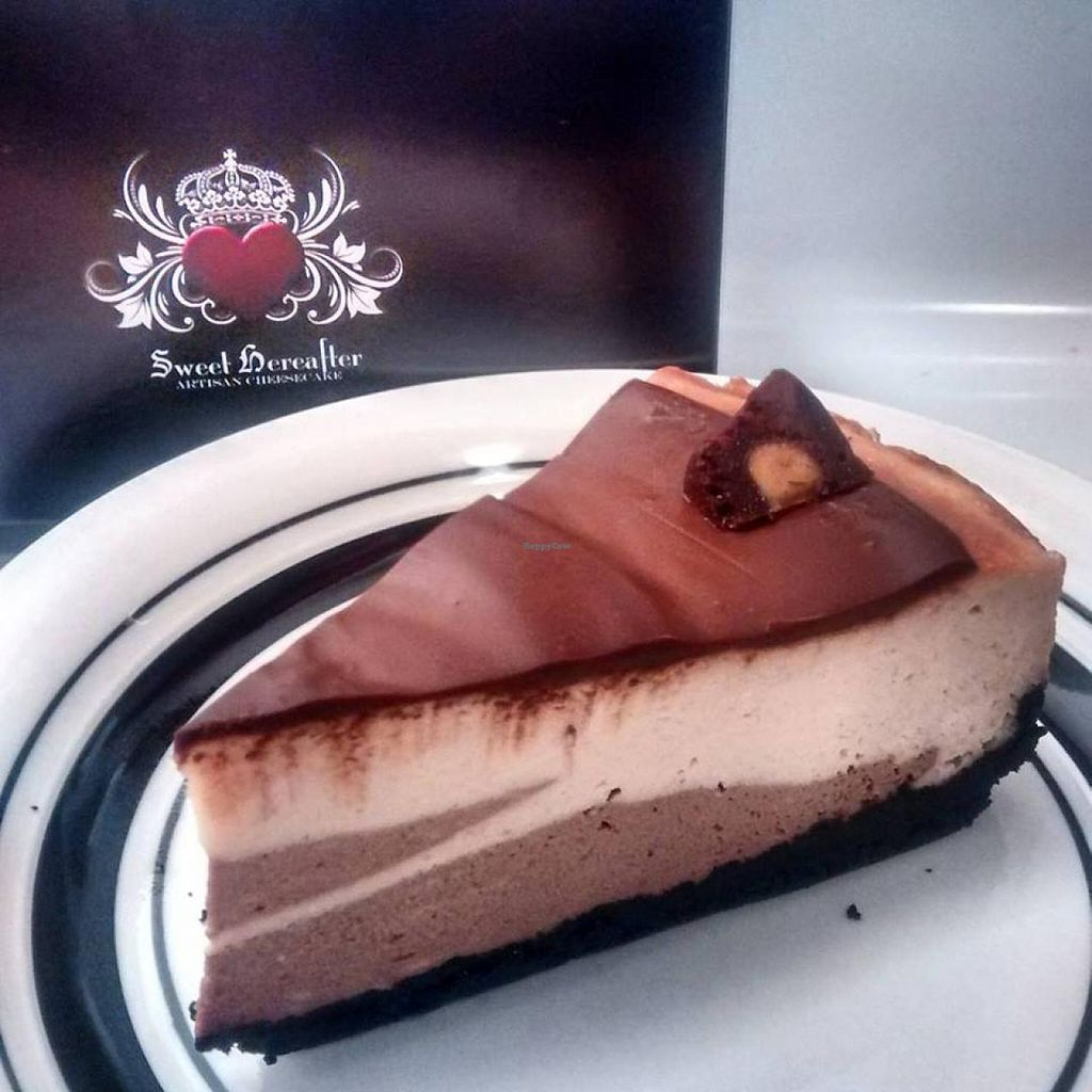 """Photo of Sweet Hereafter  by <a href=""""/members/profile/QuothTheRaven"""">QuothTheRaven</a> <br/>Vegan peanut butter chocolate cheesecake  <br/> July 26, 2015  - <a href='/contact/abuse/image/38912/111077'>Report</a>"""