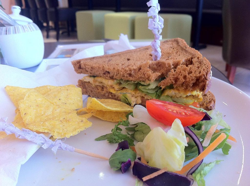 """Photo of Virtuoso Foods  by <a href=""""/members/profile/Icahlua"""">Icahlua</a> <br/>Gluten-Free Toasted Tofu Sandwich <br/> February 21, 2014  - <a href='/contact/abuse/image/38948/64671'>Report</a>"""