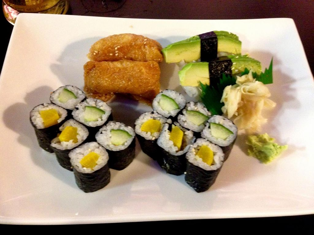 """Photo of NOI Restaurant  by <a href=""""/members/profile/feorag"""">feorag</a> <br/>16-piece vegan sushi platter at NOI <br/> May 4, 2015  - <a href='/contact/abuse/image/38951/101267'>Report</a>"""