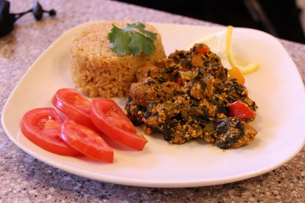 """Photo of CLOSED: Taste of West Africa  by <a href=""""/members/profile/DelaCledoe"""">DelaCledoe</a> <br/>vegetarian/vegan Jollof <br/> May 27, 2015  - <a href='/contact/abuse/image/39020/103635'>Report</a>"""