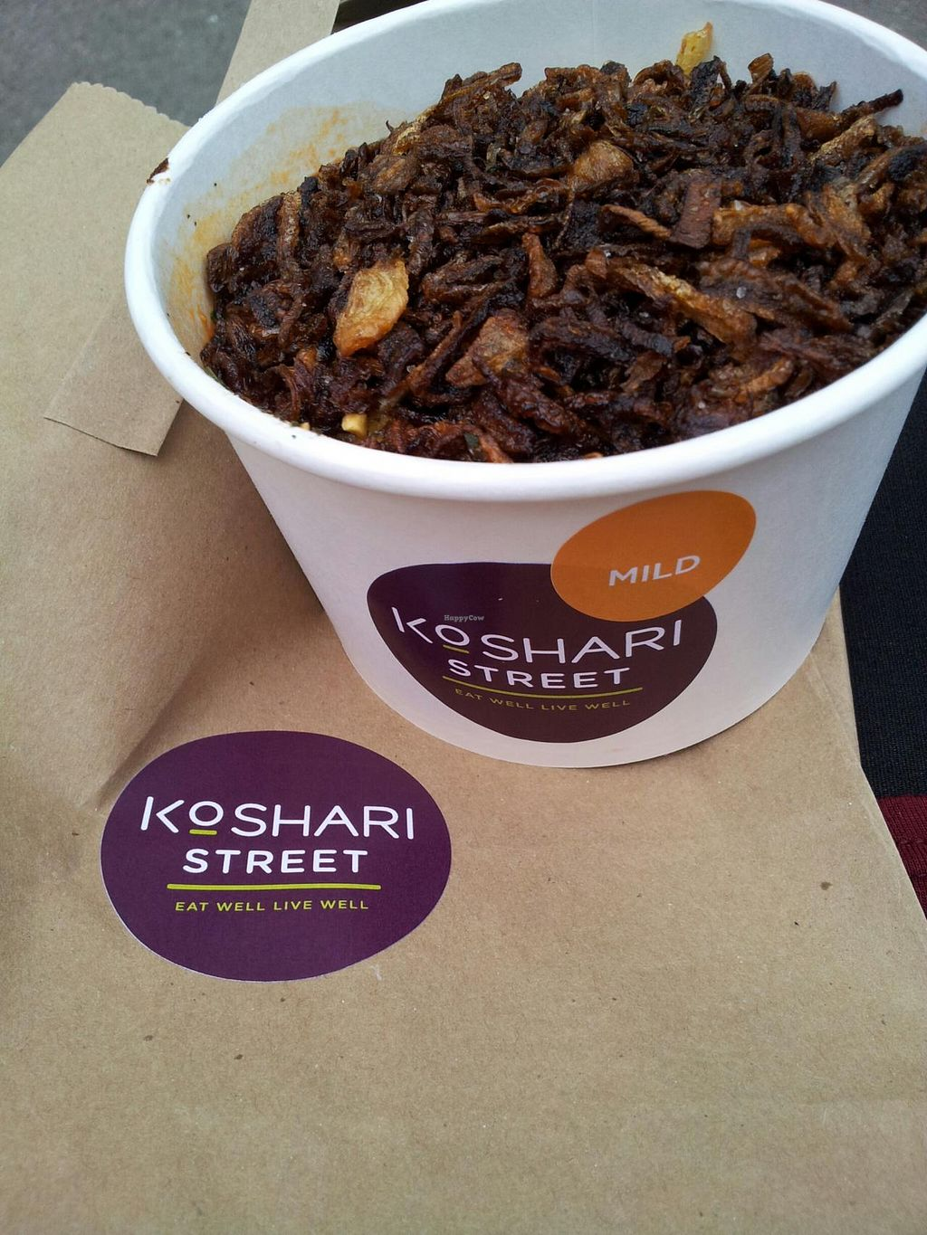"Photo of Koshari Street  by <a href=""/members/profile/GiraffeGirl"">GiraffeGirl</a> <br/>Koshari with the fried onions on top <br/> May 2, 2014  - <a href='/contact/abuse/image/39033/69134'>Report</a>"