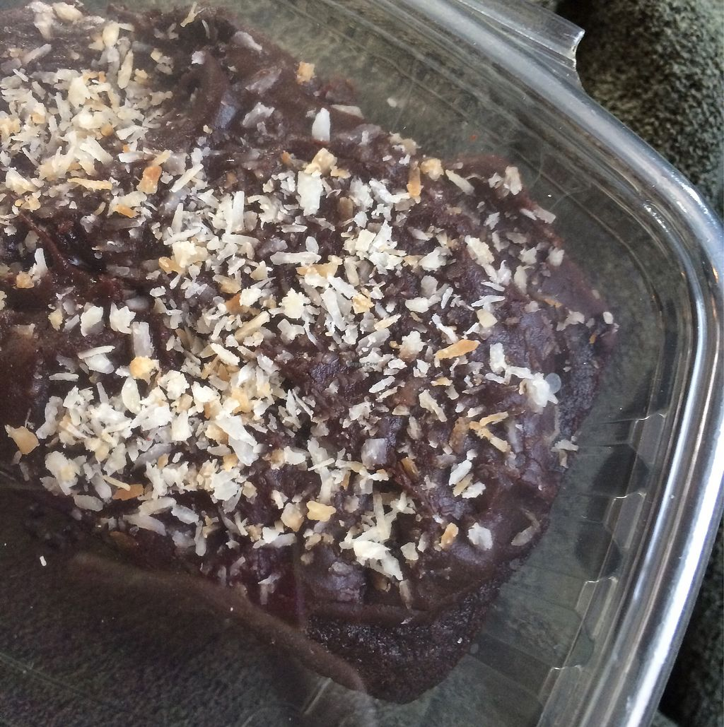 """Photo of The Art We Are  by <a href=""""/members/profile/VeggieFromSpace"""">VeggieFromSpace</a> <br/>vegan brownie with coconut flakes <br/> August 13, 2017  - <a href='/contact/abuse/image/39046/292155'>Report</a>"""