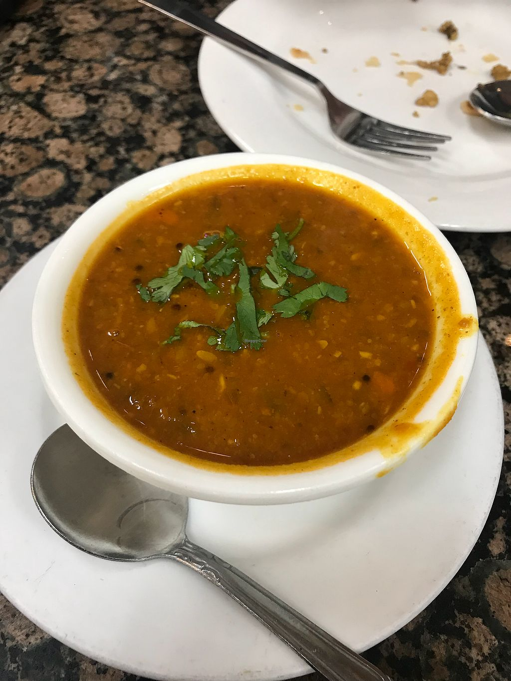 "Photo of Bhanu's Indian Grocery and Cuisine  by <a href=""/members/profile/Vegan_Ness"">Vegan_Ness</a> <br/>Lentil soup <br/> January 2, 2018  - <a href='/contact/abuse/image/39050/342268'>Report</a>"