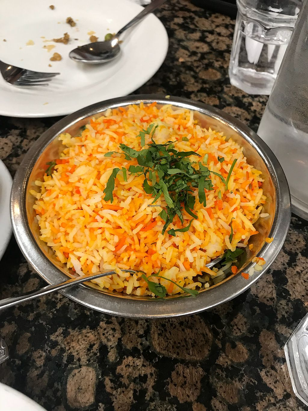 "Photo of Bhanu's Indian Grocery and Cuisine  by <a href=""/members/profile/Vegan_Ness"">Vegan_Ness</a> <br/>Saffron rice <br/> January 2, 2018  - <a href='/contact/abuse/image/39050/342273'>Report</a>"