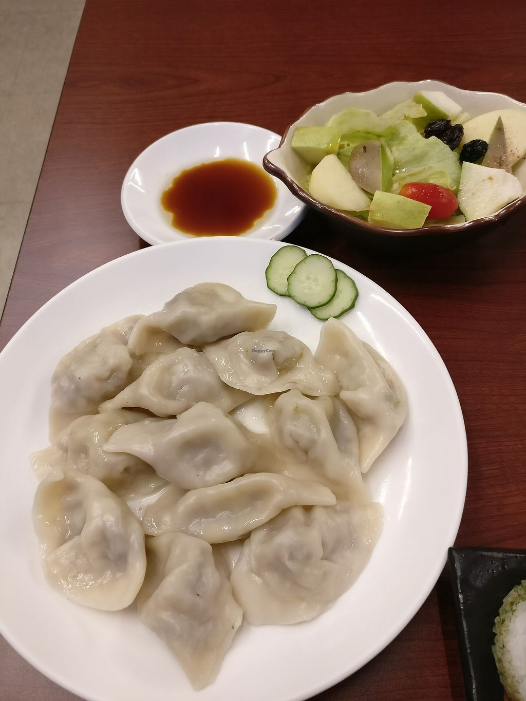 """Photo of Tai Lai  by <a href=""""/members/profile/bulma"""">bulma</a> <br/>dumplings and plum Salat  <br/> August 21, 2017  - <a href='/contact/abuse/image/39073/295174'>Report</a>"""