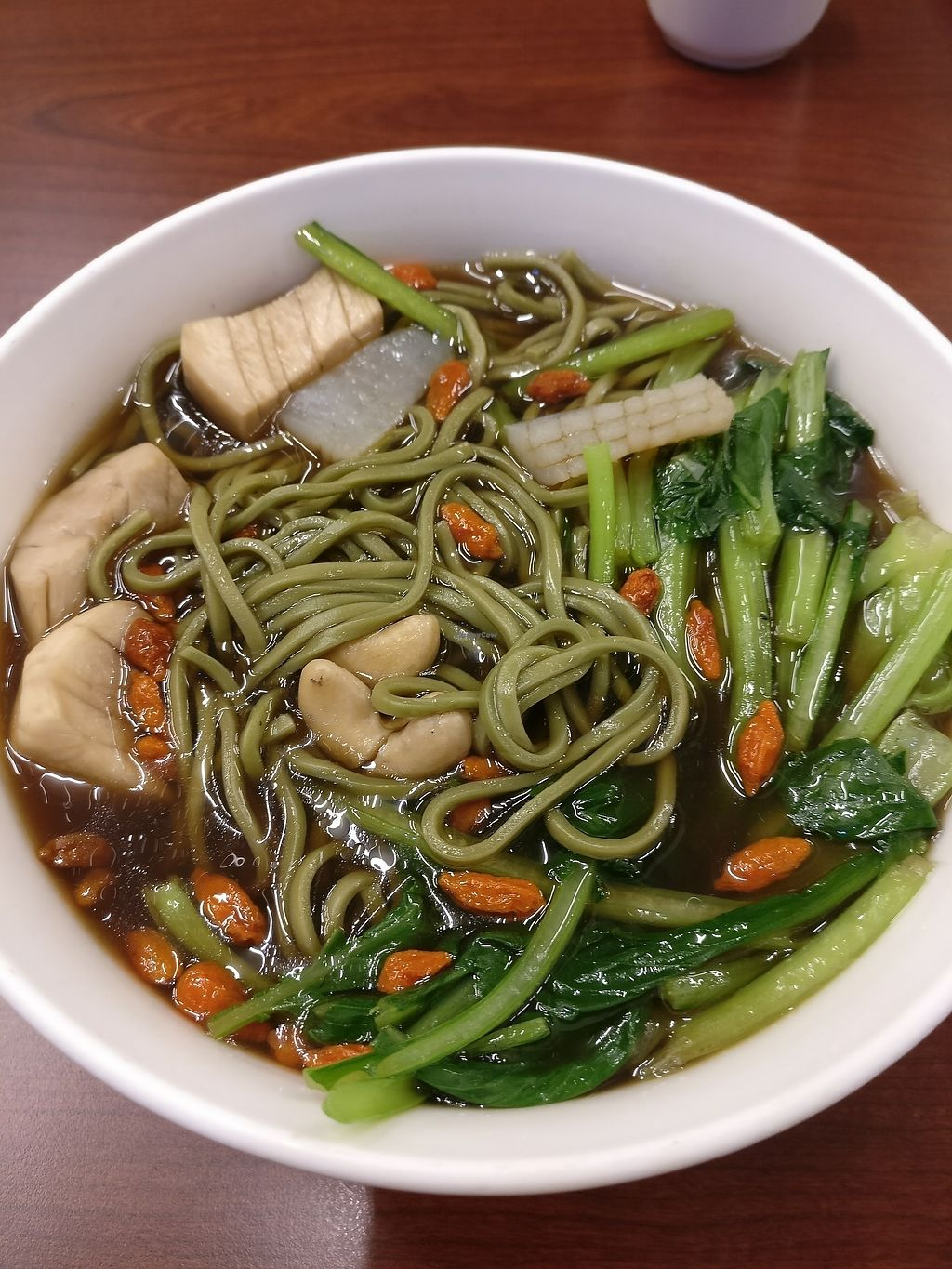 """Photo of Tai Lai  by <a href=""""/members/profile/bulma"""">bulma</a> <br/>herbal alga noodle soup <br/> August 21, 2017  - <a href='/contact/abuse/image/39073/295175'>Report</a>"""