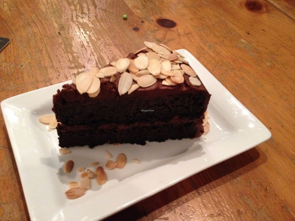 """Photo of The Foggy Goggle  by <a href=""""/members/profile/robynsomethingunique"""">robynsomethingunique</a> <br/>vegan chocolate torte, to die for! <br/> November 12, 2015  - <a href='/contact/abuse/image/39078/124732'>Report</a>"""