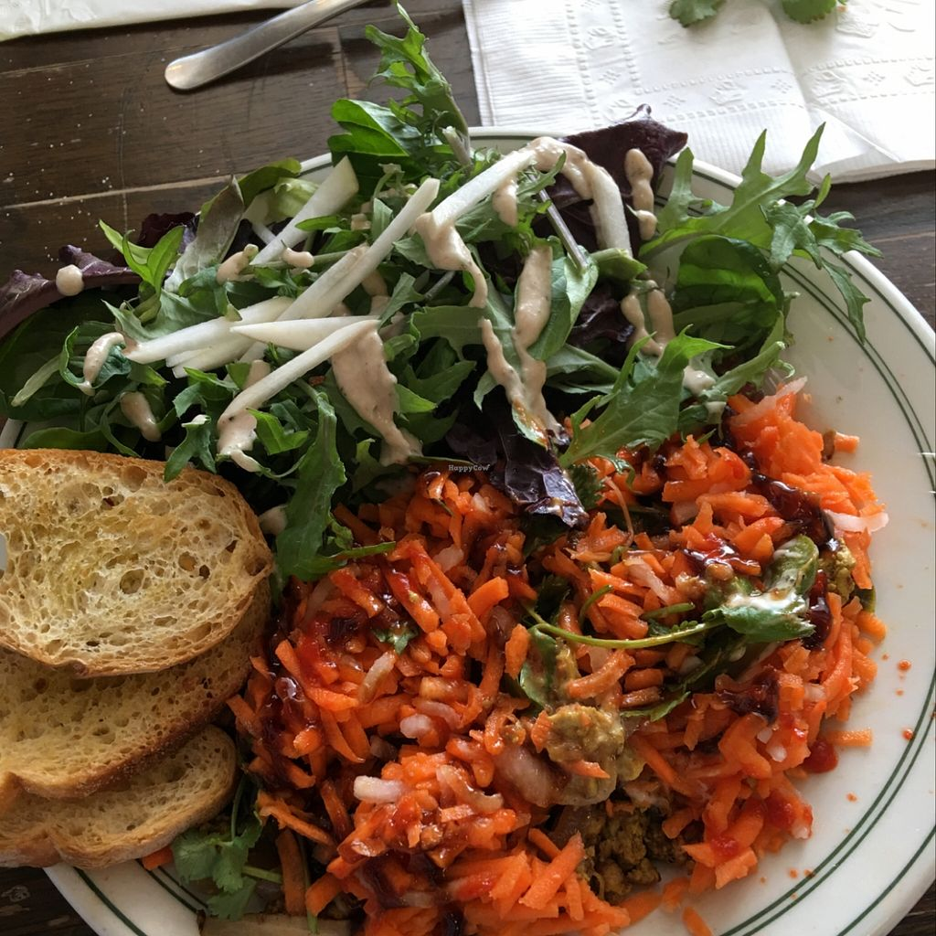 """Photo of The Root Cafe  by <a href=""""/members/profile/Chloe%20Bohannon"""">Chloe Bohannon</a> <br/>Spicy Tofu Banh Mi <br/> March 27, 2016  - <a href='/contact/abuse/image/39087/141502'>Report</a>"""