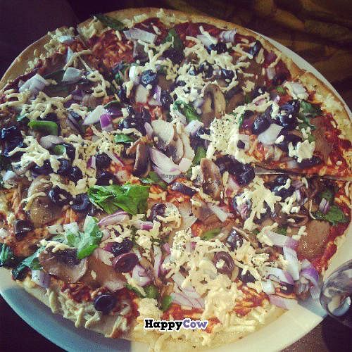 """Photo of The Wooden Monkey - Dartmouth  by <a href=""""/members/profile/QuothTheRaven"""">QuothTheRaven</a> <br/>Vegan pizza <br/> July 7, 2013  - <a href='/contact/abuse/image/39095/50895'>Report</a>"""