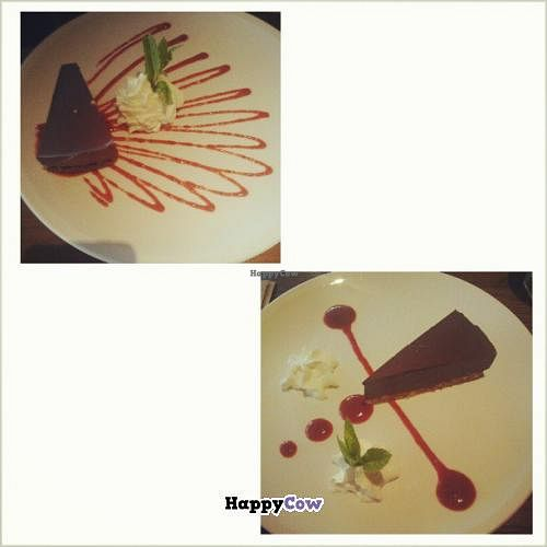 """Photo of The Wooden Monkey - Dartmouth  by <a href=""""/members/profile/QuothTheRaven"""">QuothTheRaven</a> <br/>Chocolate tofu pie (ask for no whip for vegan, we didn't eat it because we figured it wasn't vegan.) <br/> July 7, 2013  - <a href='/contact/abuse/image/39095/50896'>Report</a>"""