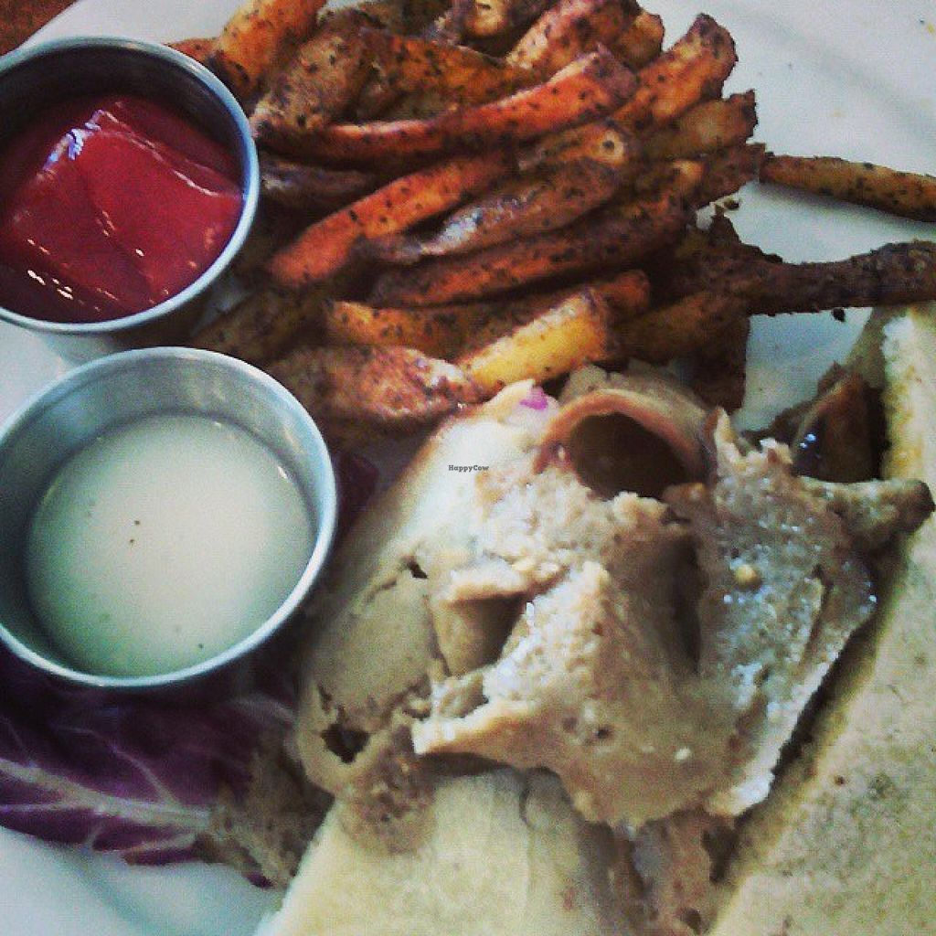 """Photo of The Wooden Monkey - Dartmouth  by <a href=""""/members/profile/QuothTheRaven"""">QuothTheRaven</a> <br/>Vegan donair <br/> September 14, 2014  - <a href='/contact/abuse/image/39095/79925'>Report</a>"""