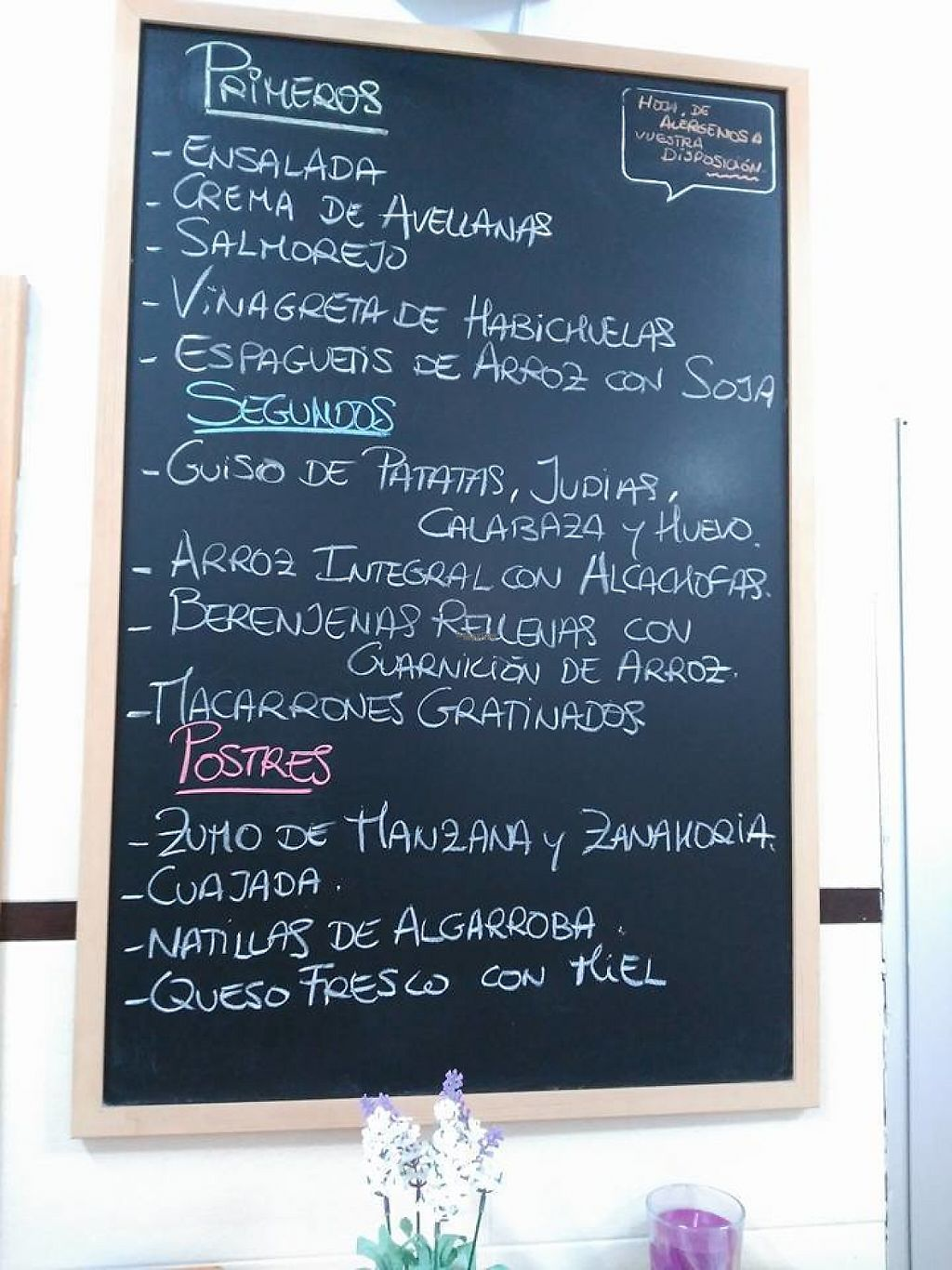 """Photo of Comedor Vegetariano Elche  by <a href=""""/members/profile/MarioDamianSoler"""">MarioDamianSoler</a> <br/>Daily menu <br/> November 14, 2016  - <a href='/contact/abuse/image/39140/190227'>Report</a>"""