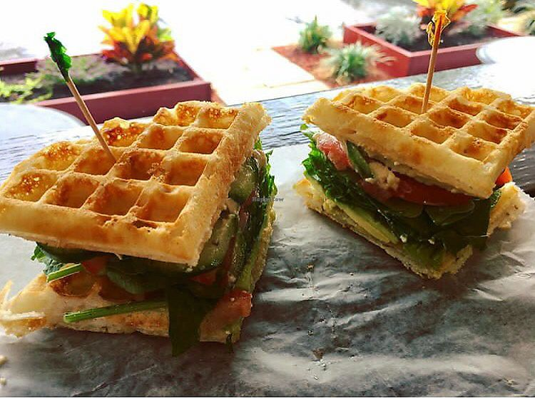 "Photo of The Bald Strawberry Cafe  by <a href=""/members/profile/clovely.vegan"">clovely.vegan</a> <br/>V-Club sandwich <br/> August 4, 2017  - <a href='/contact/abuse/image/39195/288617'>Report</a>"