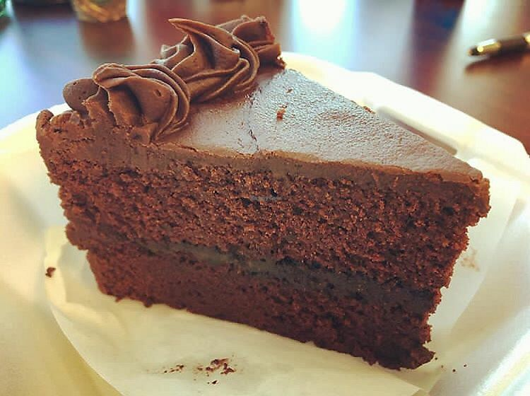 "Photo of The Bald Strawberry Cafe  by <a href=""/members/profile/clovely.vegan"">clovely.vegan</a> <br/>Vegan, gluten free Chocolate Cake <br/> August 4, 2017  - <a href='/contact/abuse/image/39195/288618'>Report</a>"