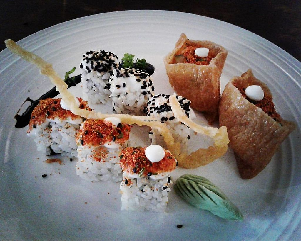 """Photo of Sushi Kitchen - George Town  by <a href=""""/members/profile/RunEatWorld"""">RunEatWorld</a> <br/>Selection of appetisers <br/> June 13, 2017  - <a href='/contact/abuse/image/39223/268587'>Report</a>"""