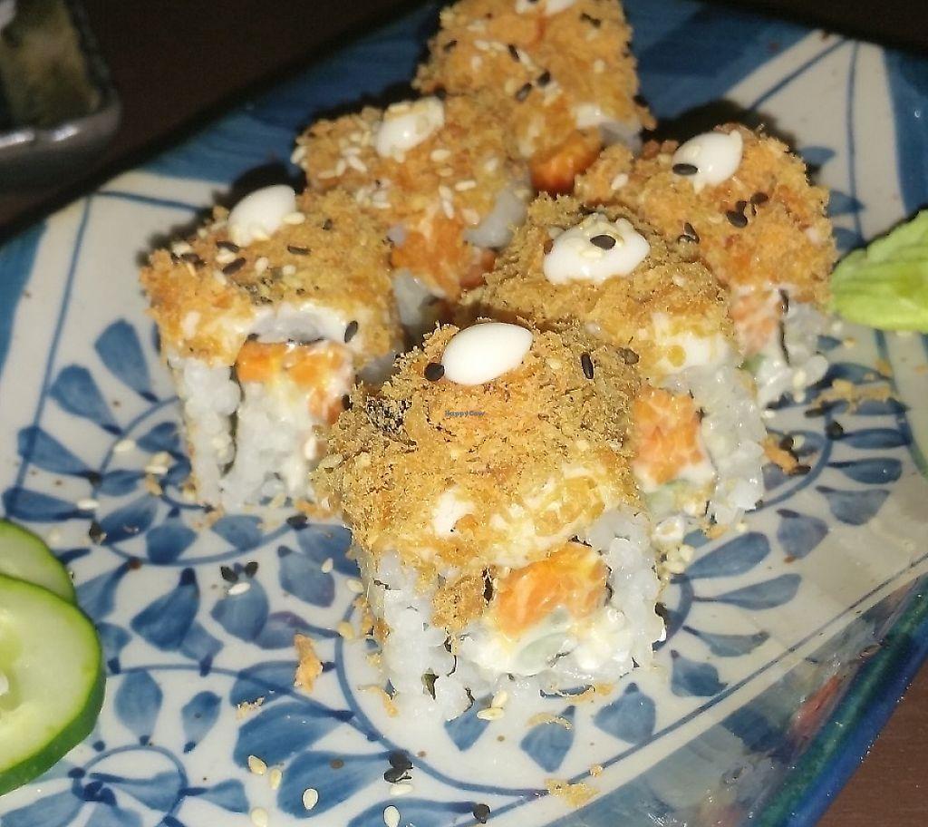"""Photo of Sushi Kitchen - George Town  by <a href=""""/members/profile/Rosa%20veg"""">Rosa veg</a> <br/>Sushi  <br/> April 21, 2017  - <a href='/contact/abuse/image/39223/269823'>Report</a>"""