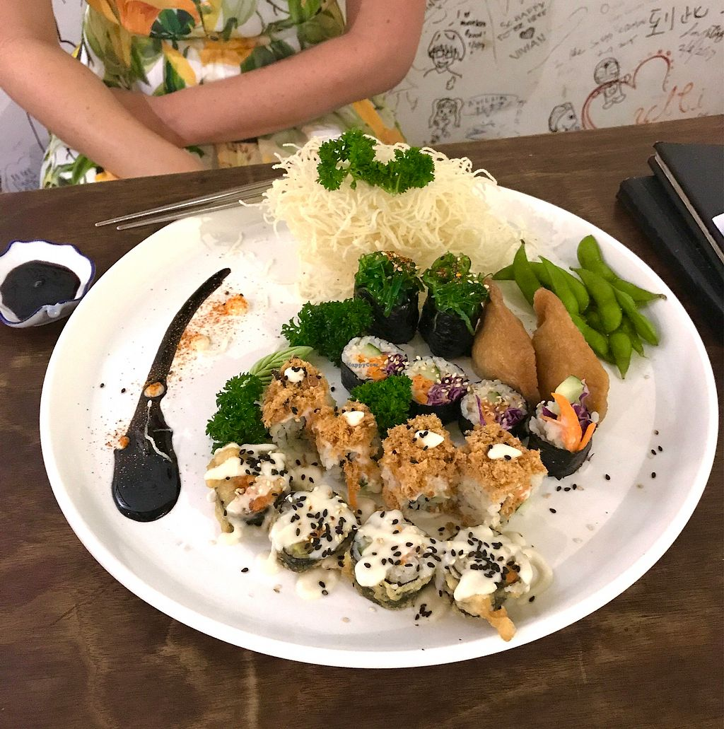 """Photo of Sushi Kitchen - George Town  by <a href=""""/members/profile/EllenVanGool"""">EllenVanGool</a> <br/>Fam. sushi platter <br/> July 19, 2017  - <a href='/contact/abuse/image/39223/282133'>Report</a>"""