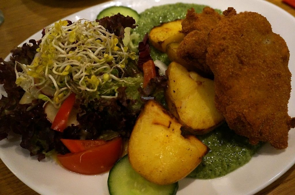 """Photo of CLOSED: Chimichurri  by <a href=""""/members/profile/Ricardo"""">Ricardo</a> <br/>Green Frankfurt Sauce w/Soy Schnitzels <br/> January 12, 2017  - <a href='/contact/abuse/image/39258/211602'>Report</a>"""