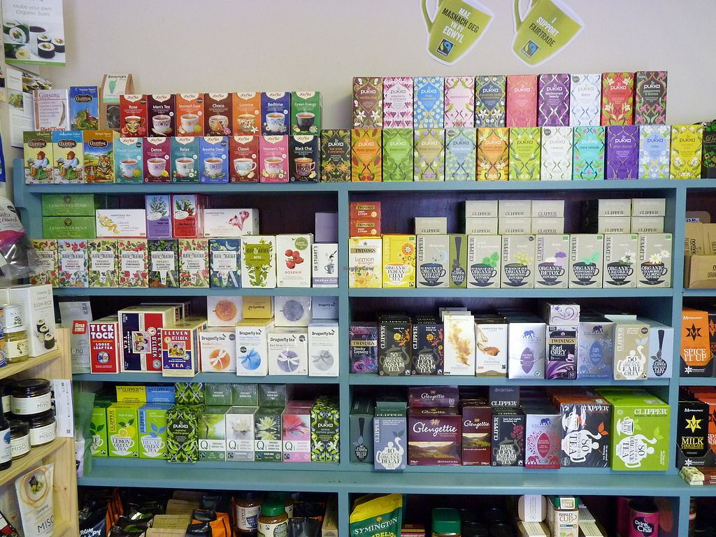 """Photo of Dyfi Wholefoods  by <a href=""""/members/profile/DyfiWholefoods"""">DyfiWholefoods</a> <br/>Over a hundred varieties of tea <br/> February 16, 2018  - <a href='/contact/abuse/image/39329/360026'>Report</a>"""