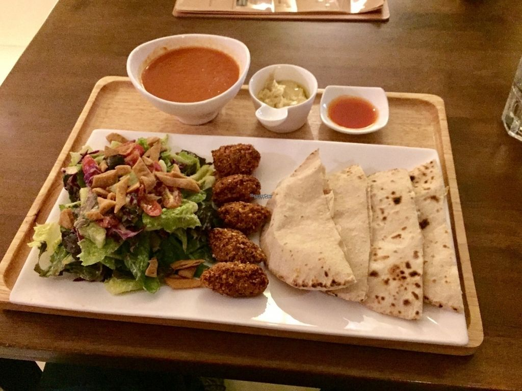 "Photo of Suananda Vegetarian Garden  by <a href=""/members/profile/peterstuckings"">peterstuckings</a> <br/>The Falafel Set meal <br/> November 2, 2016  - <a href='/contact/abuse/image/39358/186079'>Report</a>"
